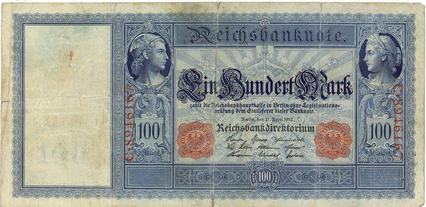 German Empire 1910 100 Marks DER-42
