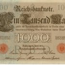 German Empire 1910 1000 Marks DER-44b
