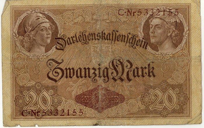 German Empire 1914 20 Marks DER-48b