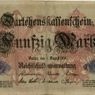 German Empire 1914 50 Marks DER-49b