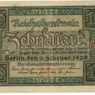 German Empire 1920 10 Marks DER-67