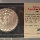 1991 American Silver Eagle Uncirculated Littleton Packaging #J27