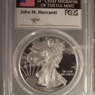 2014-W Proof Silver Eagle PR69DCAM PCGS AMERICAN FLAG John M. Mercanti #G25