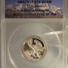 2012-S 25c PROOF CLAD ANACS PR70DCAM EL YUNQUE QUARTER First Strike #G33