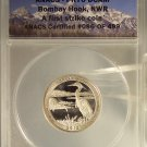 2015-S 25c PROOF CLAD ANACS PR70DCAM BOMBAY HOOK QUARTER First Strike #G39