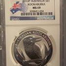 2012 P Australia S$1 Kookabura NGC MS 69 #G055