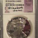 2001-W Proof Silver Eagle NGC PR 70 UC Elizabeth Jones Signature RARE #G57