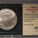 2001 American Silver Eagle Uncirculated Littleton Packaging #G60