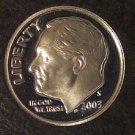 2003-S GEM Proof Cameo Silver Roosevelt Dime #744