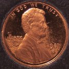 1987-S Deep Cameo Proof Lincoln Memorial Penny #01050