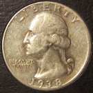 1938-S Silver Washington Quarter EF #213