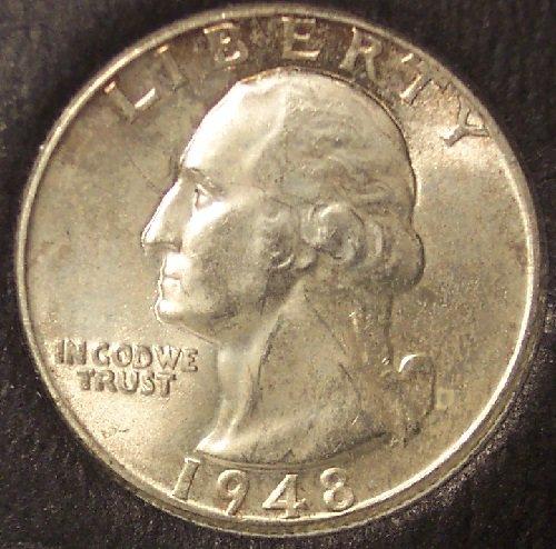 1948 Silver Washington Quarter BU #0044
