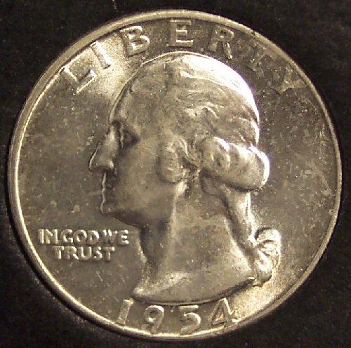 1954 Silver Washington Quarter CH BU #0048