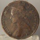 KM #754 Great Britain 1875 Half Penny Fine Details #0966