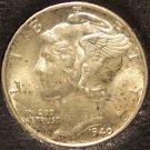 1940 Mercury Head Silver Dime BU #01118