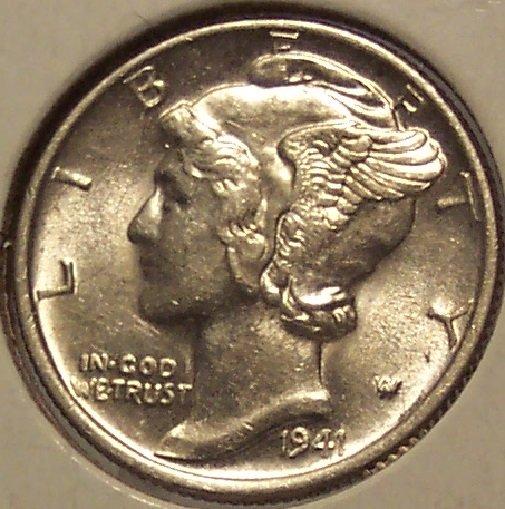 1941 Mercury Head Dime BU #01120