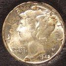 1942 Mercury Head Dime BU #01123