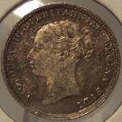 1883 Silver Great Britain 3 Pence AU+ #1207