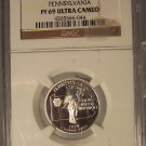 1999-S Silver Proof Pennsylvania State Quarter NGC PF 69 UC #G077