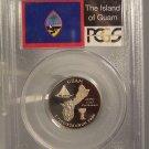 2009-S Clad Proof U.S. Territories 25c Guam PCGS PR 69 DCAM #G079