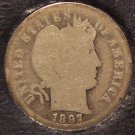 1897-S Silver Barber Dime G4 LOW MINTAGE #0099