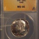 1967 SMS Kennedy Silver Clad Half Dollar ANACS MS 66 #G020