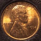 1934 Lincoln Wheat Back Penny Mint State with Woodgrain #0085