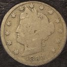 """1883 Liberty Head """"V"""" Nickel With """"Cents"""" G4 #0105"""