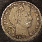 1914 Silver Barber Quarter Fine Details #0201