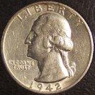 1942-S Washington Silver Quarter AU #0411