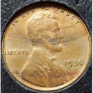 1936 Lincoln Wheat Cent EF #0508