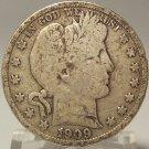 1909-S Barber Silver Half Dollar F12 #0553