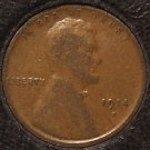 1914-D Lincoln Wheat Back Penny VG Details KEY DATE #0003
