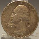 1942-D Silver Washington Quarter AU #0427