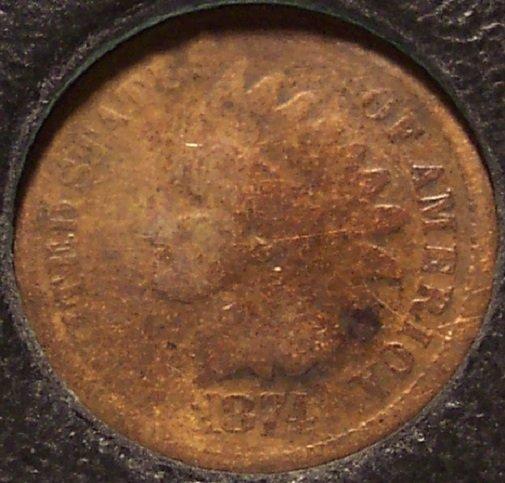 1874 Indian Head Cent AG #0040