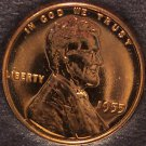 1955 Lincoln Wheat Back PROOF Penny #0200