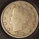 "1899 Liberty Head ""V"" Nickel F12 #0381"