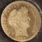 1894 Silver Barber Dime Low Mintage Scarce Date #0325