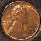 1936 Lincoln Wheat Back Penny BU #0500