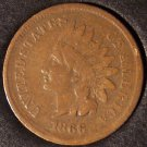 1866 Indian Head Cent VG Scarce Date #0158