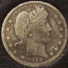 1914 Barber Silver Quarter F #0636