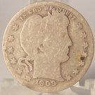 1909-O Barber Quarter AG/G SCARE DATE #0509