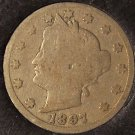 "1897 Liberty Head ""V"" Nickel #0622"