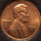 1970 Lincoln Memorial Penny Choice BU RED #0060