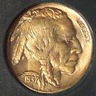 1937-S Buffalo Nickel GEM BU Great Toning #G030