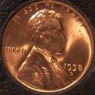 1958-D Lincoln Wheat Back Penny GEM BU #0398