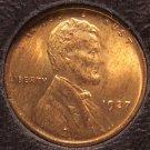 1927 Lincoln Wheat Back Penny BU #0060