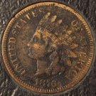 1876 Indian Head Cent Fine Details Scarce Date #0120