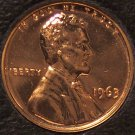 1963 Proof Lincoln Memorial Penny #0174