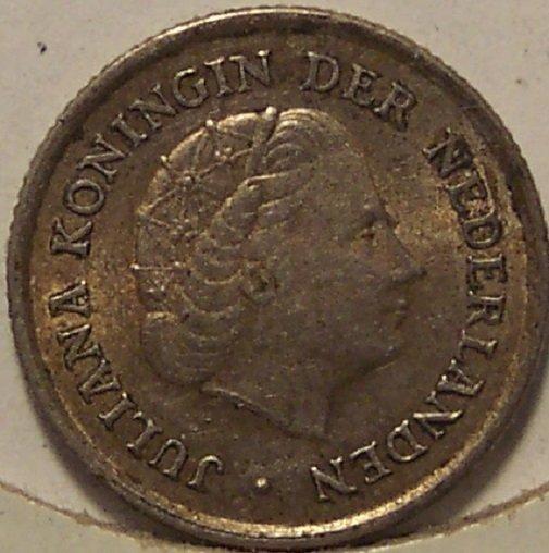 KM #3 Netherlands Antilles 1962 Silver 1/10 Gulden #0434
